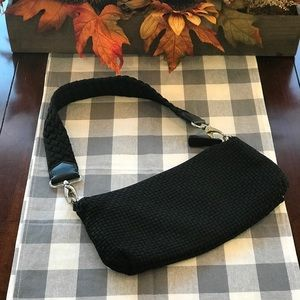 The Sak Mini Woven Black Purse